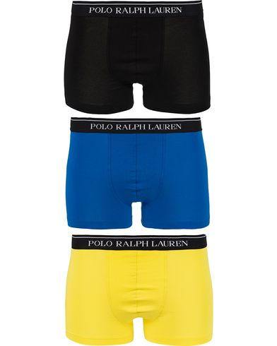 Polo Ralph Lauren 3-Pack Pouch Trunk Blue/Yellow/Black i gruppen Kläder / Underkläder / Kalsonger hos Care of Carl (12518311r)