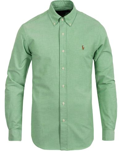Polo Ralph Lauren Slim Fit Oxford Stretch Shirt Prep Green i gruppen Skjortor / Casual skjortor hos Care of Carl (12526011r)