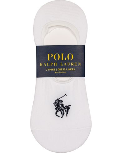 Polo Ralph Lauren 3-Pack Socks No Show Dressed Liner White  i gruppen Underkläder / Strumpor hos Care of Carl (12541010)