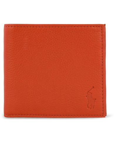 Polo Ralph Lauren Billfold Wallet Orange/Cuoio  i gruppen Assesoarer / Lommebøker / Vanlige lommebøker hos Care of Carl (12542510)