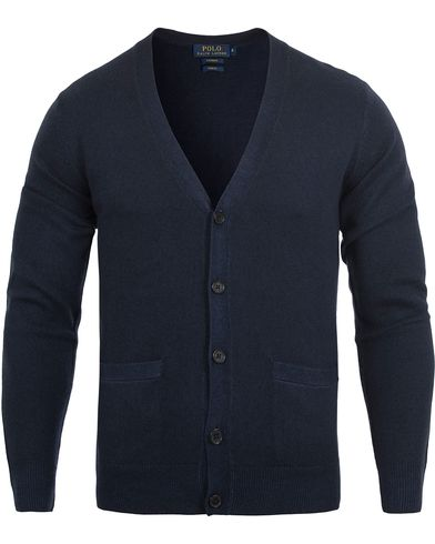 Polo Ralph Lauren Garment Washed Cashmere Cardigan Aviator Navy i gruppen Gensere / Cardigans hos Care of Carl (12545111r)
