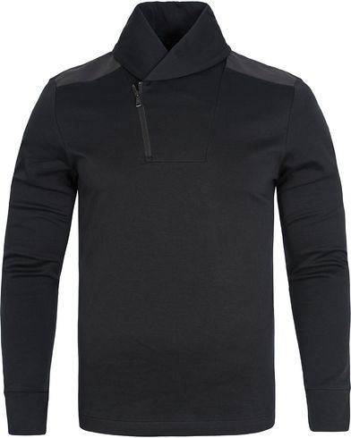 Polo Ralph Lauren Shawl Liquid Cotton Sweater Polo Black i gruppen Gensere / Strikkede gensere hos Care of Carl (12547511r)