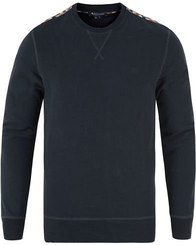 Aquascutum Gilpin Sweatshirt Navy i gruppen Gensere / Sweatshirts hos Care of Carl (12550111r)