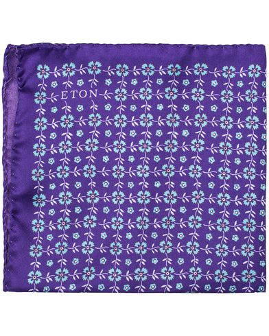 Eton Printed Mini Flower Pocket Square Purple  i gruppen Assesoarer / Lommetørklær hos Care of Carl (12555410)