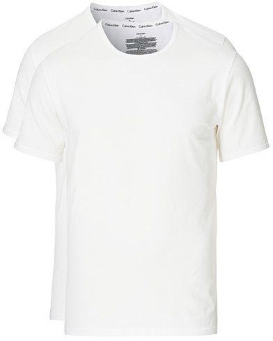 Calvin Klein Cotton Crew Neck Tee 2- Pack White i gruppen T-Shirts / Kortermede t-shirts hos Care of Carl (12568311r)