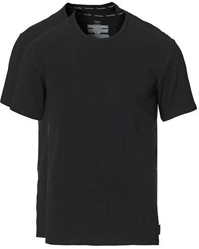 Calvin Klein Cotton Crew Neck Tee 2- Pack Black i gruppen Klær / T-Shirts / Kortermede t-shirts hos Care of Carl (12568411r)