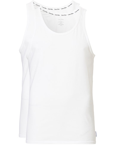 Calvin Klein Cotton Tank Top 2-Pack White i gruppen T-Shirts / Linnen hos Care of Carl (12568711r)