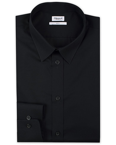 Filippa K Paul Stretch Organic Cotton Shirt Black i gruppen Klær / Skjorter / Formelle skjorter hos Care of Carl (12576211r)