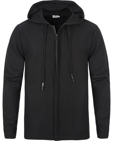 Filippa K Boiled Wool Hood Jacket Black i gruppen Klær / Gensere / Hettegensere hos Care of Carl (12577011r)