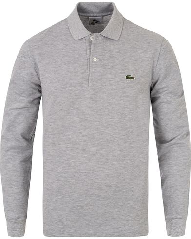 Lacoste Long Sleeve Polo Pik� Silver Chine i gruppen Pik�er / L�ng�rmad Pik� hos Care of Carl (12579911r)