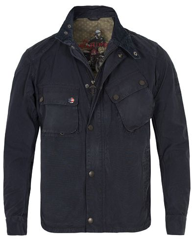 Barbour International Washed 9665 Cotton Steve McQueen Jacket Navy i gruppen Jackor / Tunna jackor hos Care of Carl (12589511r)
