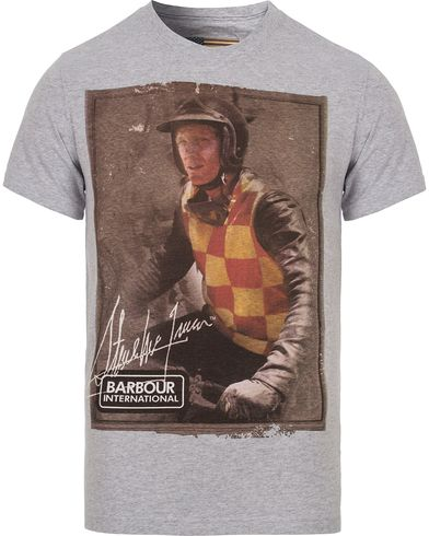 Barbour International Steve McQueen Everett Tee Light Grey Marl i gruppen T-Shirts / Kortermede t-shirts hos Care of Carl (12589911r)