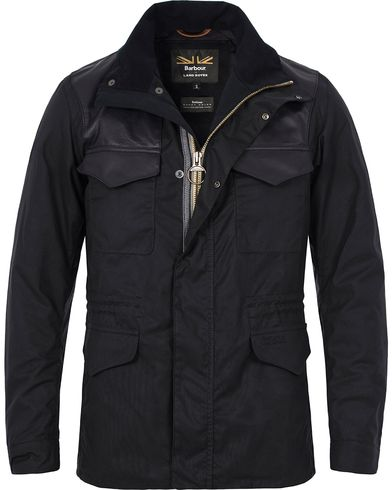 Barbour for Land Rover Traveller Wax Jacket Navy i gruppen Jakker / Voksede Jakker hos Care of Carl (12592311r)