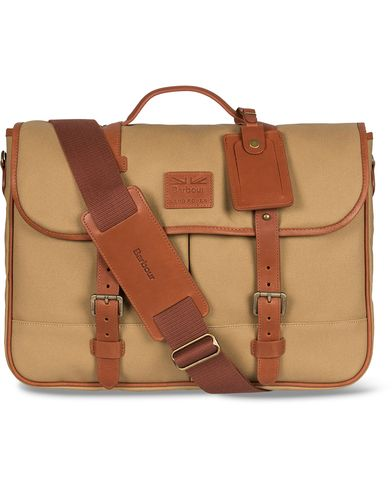 Barbour for Land Rover Messenger Bag Sand  i gruppen Vesker / Skuldervesker hos Care of Carl (12592810)