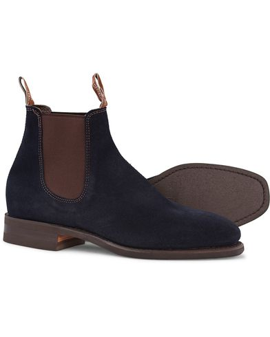 R.M.Williams Blaxland G Boot Suede Universe Navy i gruppen Sko / Støvler / Chelsea boots hos Care of Carl (12594711r)