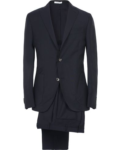 Boglioli Dover Patch Pocket Wool Suit Navy i gruppen Kläder / Kostymer hos Care of Carl (12600311r)