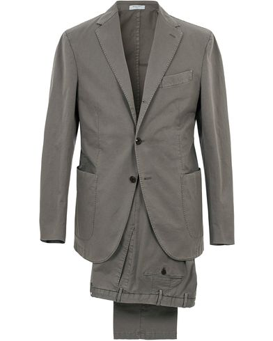 Boglioli Coat Patch Pocket Cotton/Linen Suit Light Grey i gruppen Kostymer hos Care of Carl (12600511r)