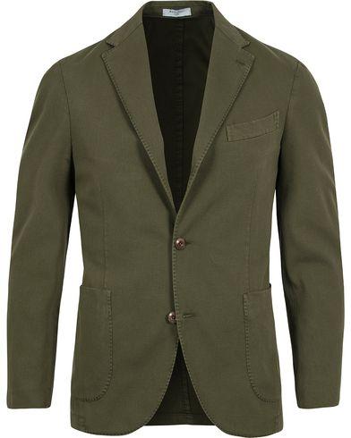 Boglioli Coat Patch Pocket Stretch Cotton Blazer Dark Green i gruppen Kläder / Kavajer hos Care of Carl (12601011r)