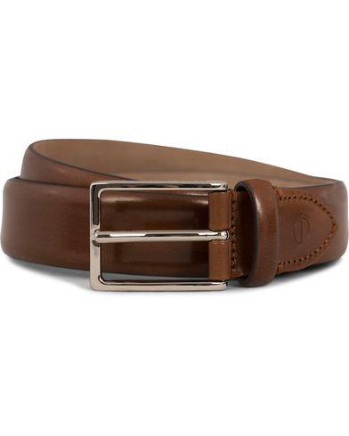 Oscar Jacobson Suit Belt 3 cm Cognac i gruppen Accessoarer / Bälten hos Care of Carl (12619411r)