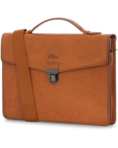 Oscar Jacobson Leather Briefcase 13'' i gruppen Design A / Vesker / Dokumentvesker hos Care of Carl (12619510)