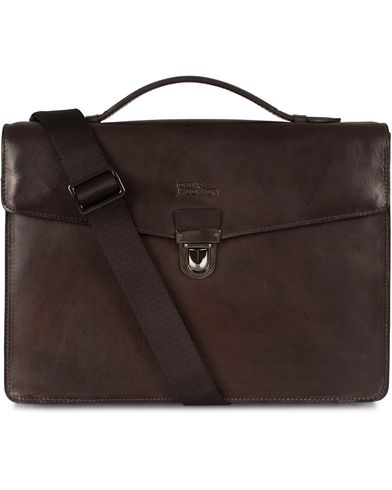 Oscar Jacobson Leather Briefcase 13'' i gruppen Vesker / Dokumentvesker hos Care of Carl (12619610)
