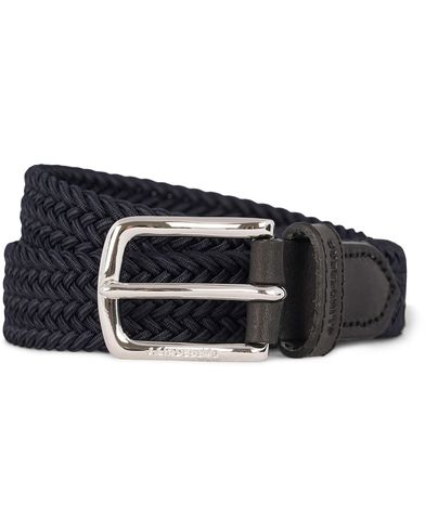 J.Lindeberg S-Belt 52032 Nylon Stretch 2,5 cm Belt Navy i gruppen Assesoarer / Belter / Flettede belter hos Care of Carl (12619811r)