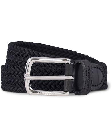 J.Lindeberg Nylon Stretch 2,5 cm Belt Black i gruppen Accessoarer / B�lten hos Care of Carl (12619911r)