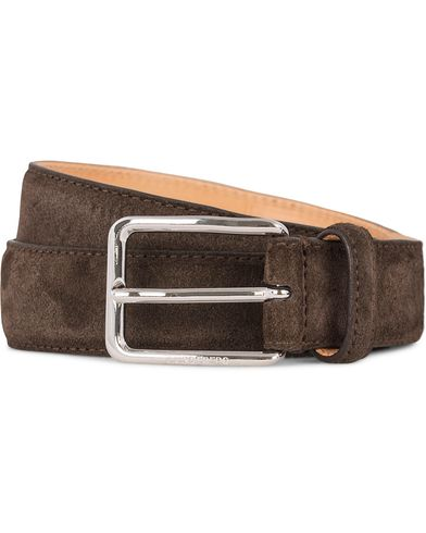 J.Lindeberg S-Belt 52033 Cow Suede 3 cm Belt Dark Brown i gruppen Accessoarer / Bälten / Släta bälten hos Care of Carl (12620011r)