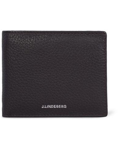 J.Lindeberg David Leather Wallet Dark Brown  i gruppen Assesoarer / Lommeb�ker hos Care of Carl (12620410)