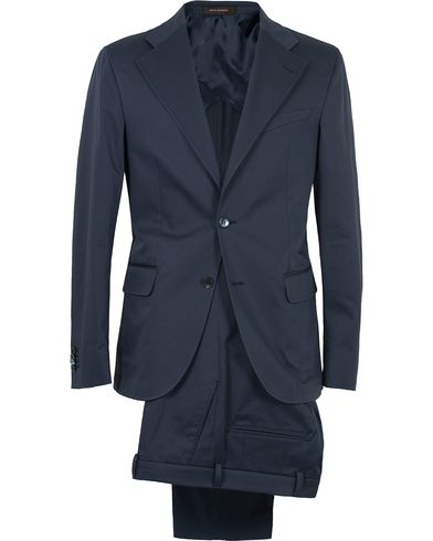 Oscar Jacobson Fellow Cotton Suit Navy i gruppen Kostymer hos Care of Carl (12625511r)