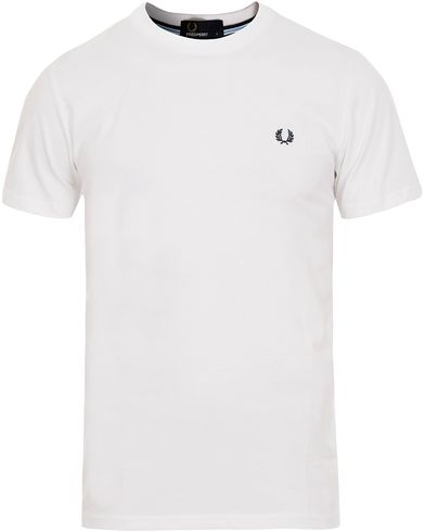 Fred Perry Crew Neck Tee White i gruppen T-Shirts / Kortärmade t-shirts hos Care of Carl (12626011r)