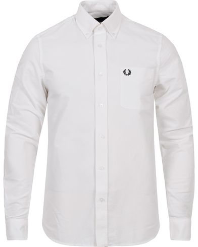 Fred Perry Classic Fit Oxford Shirt White i gruppen Skjortor / Oxfordskjortor hos Care of Carl (12627011r)