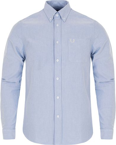 Fred Perry Classic Fit Oxford Shirt Light Smoke i gruppen Kläder / Skjortor / Oxfordskjortor hos Care of Carl (12627111r)