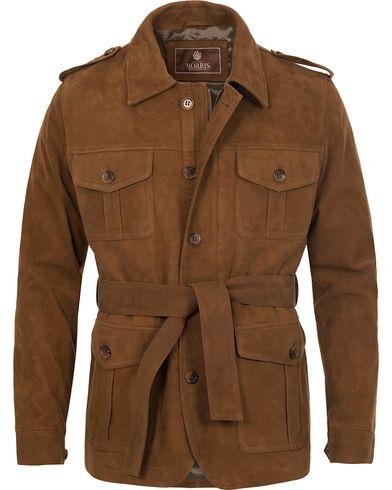 Morris Heritage Suede Millard Jacket Camel i gruppen Kläder / Jackor / Skinnjackor hos Care of Carl (12633511r)