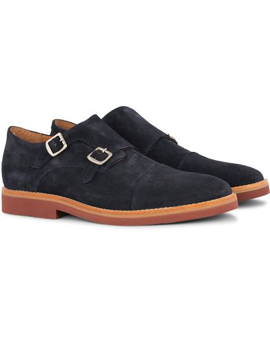 Morris Double Monk Navy Suede i gruppen Sko / Munkesko hos Care of Carl (12638711r)
