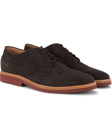 Morris Brouge Brown Suede i gruppen Sko / Brogues hos Care of Carl (12639111r)