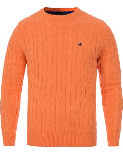Morris Pima Cotton Cable Orange i gruppen Tr�jor / Stickade Tr�jor hos Care of Carl (12641511r)