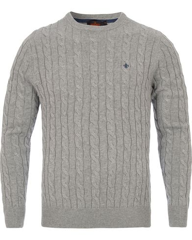 Morris Pima Cotton Cable Grey i gruppen Klær / Gensere / Strikkede gensere hos Care of Carl (12641711r)