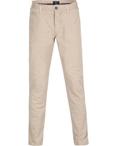 Morris Light Twill Chino Khaki i gruppen Byxor / Chinos hos Care of Carl (12649311r)