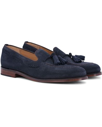 Loake 1880 MTO Temple Loafer Navy Suede i gruppen Skor / Loafers hos Care of Carl (12653811r)