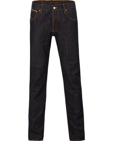 Nudie Jeans Steady Eddie Organic Regular Fit Jeans Dry Selvage i gruppen Jeans / Avsmalnende jeans hos Care of Carl (12656011r)