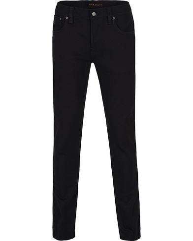 Nudie Jeans Grim Tim Organic Slim Fit Stretch Jeans Black Ring i gruppen Jeans / Smale jeans hos Care of Carl (12656411r)
