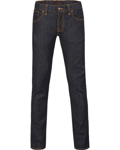 Nudie Jeans Grim Tim Organic Slim Fit Stretch Jeans Dry Navy i gruppen Jeans / Smale Jeans hos Care of Carl (12656611r)