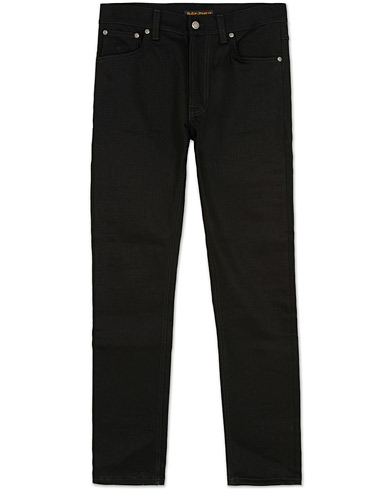 Nudie Jeans Lean Dean Organic Slim Fit Stretch Jeans Dry Cold Black i gruppen Klær / Jeans hos Care of Carl (12657311r)