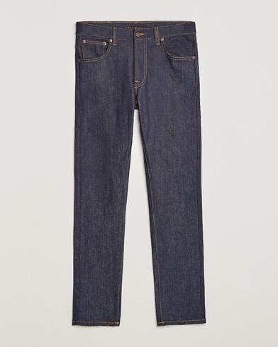 Nudie Jeans Lean Dean Organic Slim Fit Stretch Jeans Dry 16 Dips i gruppen Klær / Jeans hos Care of Carl (12657511r)