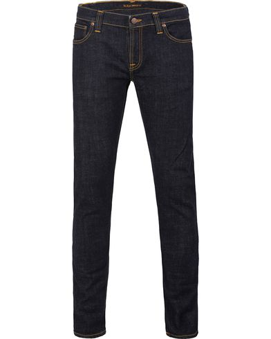 Nudie Jeans Long John Organic Slim Fit Stretch Jeans Twill Rinsed i gruppen Jeans / Smale jeans hos Care of Carl (12658111r)