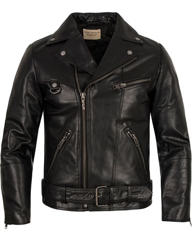 Nudie Jeans Ziggy Punk Leather Jacket Black i gruppen Jakker / Skinnjakker hos Care of Carl (12658511r)