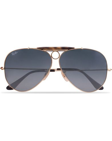 Ray-Ban 0RB3138 Shooter Sunglasses Gold/Grey  i gruppen Solbriller hos Care of Carl (12668910)