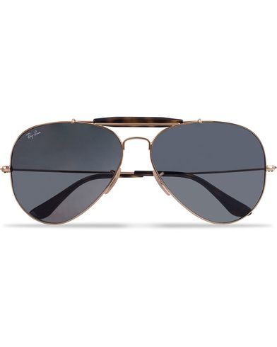 Ray-Ban 0RB3029 Outdoorsman II Sunglasses Gold/Grey  i gruppen Solbriller hos Care of Carl (12669110)