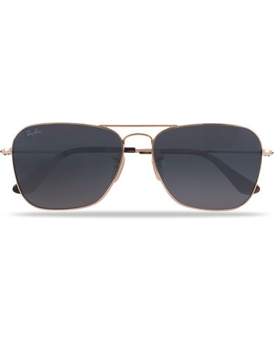 Ray-Ban 0RB3136 Caravan Sunglasses Gold/Grey  i gruppen Solbriller / Firkantede solbriller hos Care of Carl (12669210)